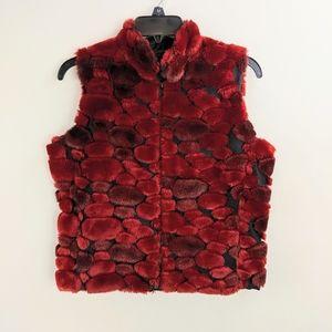 D Duncan Vest Womans Sz L/XL Sheared Beaver Faux